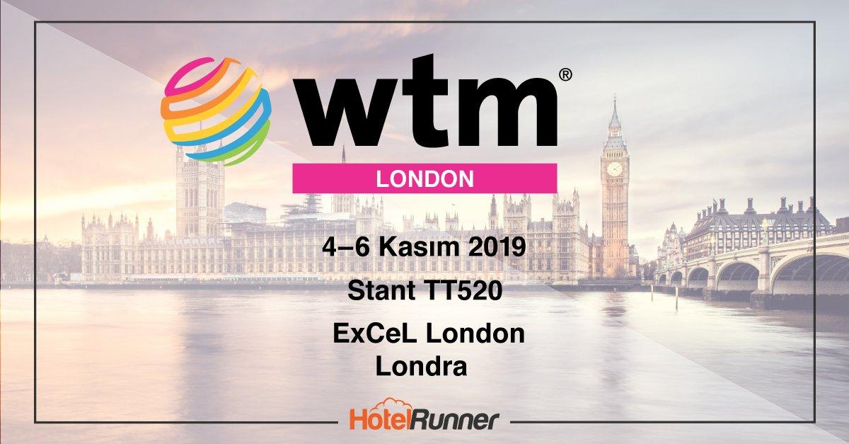World Travel Market 2019 Londra'da, HotelRunner standında buluşalım!