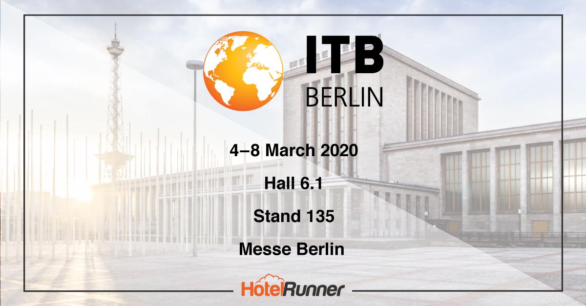 Meet the HotelRunner team at ITB Berlin 2020!
