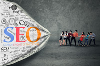 How much does using keywords matter in search engine marketing?