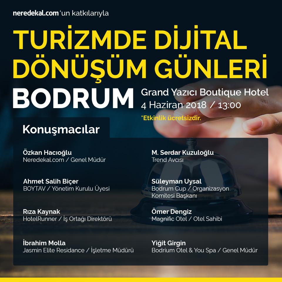 Turizmde Dijital Dönüşüm Günleri'nin ilk ayağı Bodrum'da!