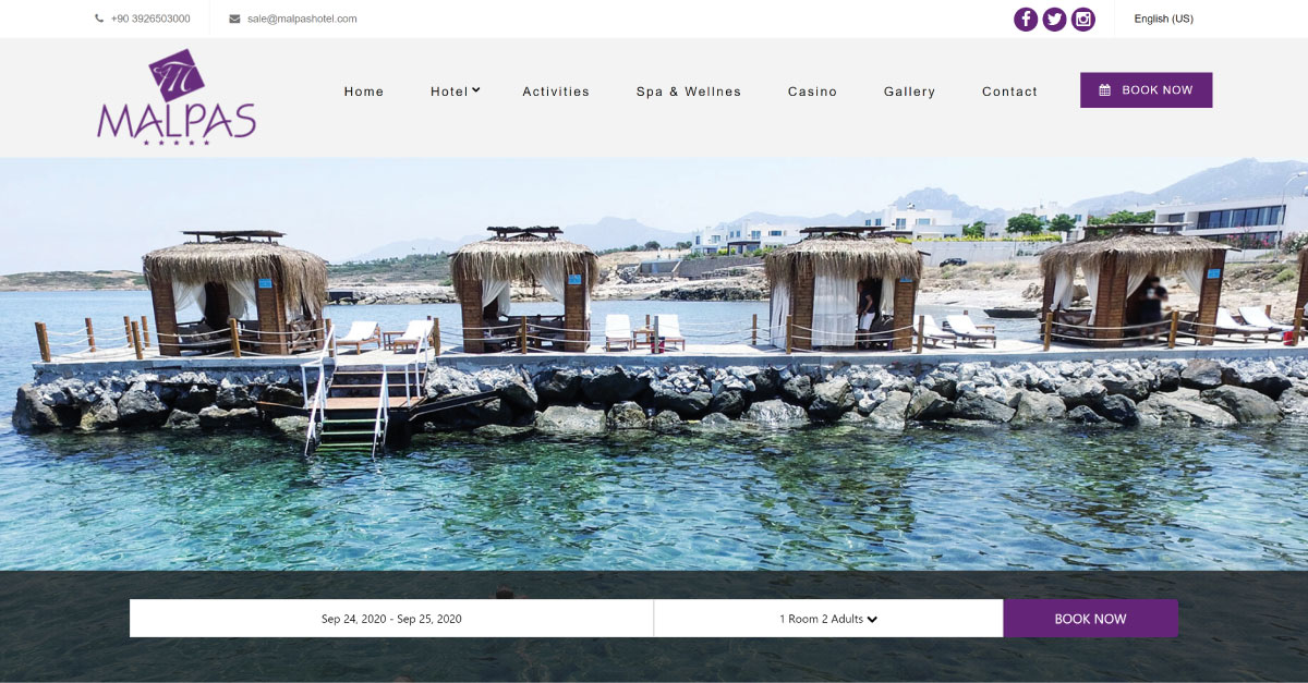 malpas hotel website