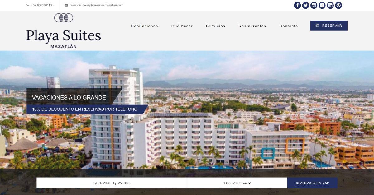 playa suites hotel website